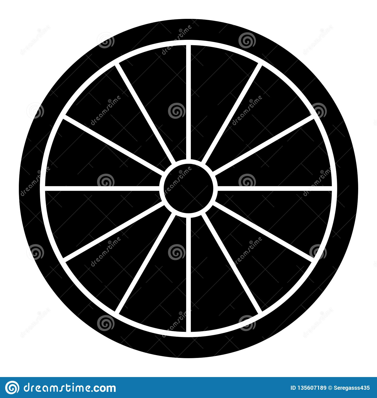 Viking Shield Icon Black Color Vector Illustration Flat ...