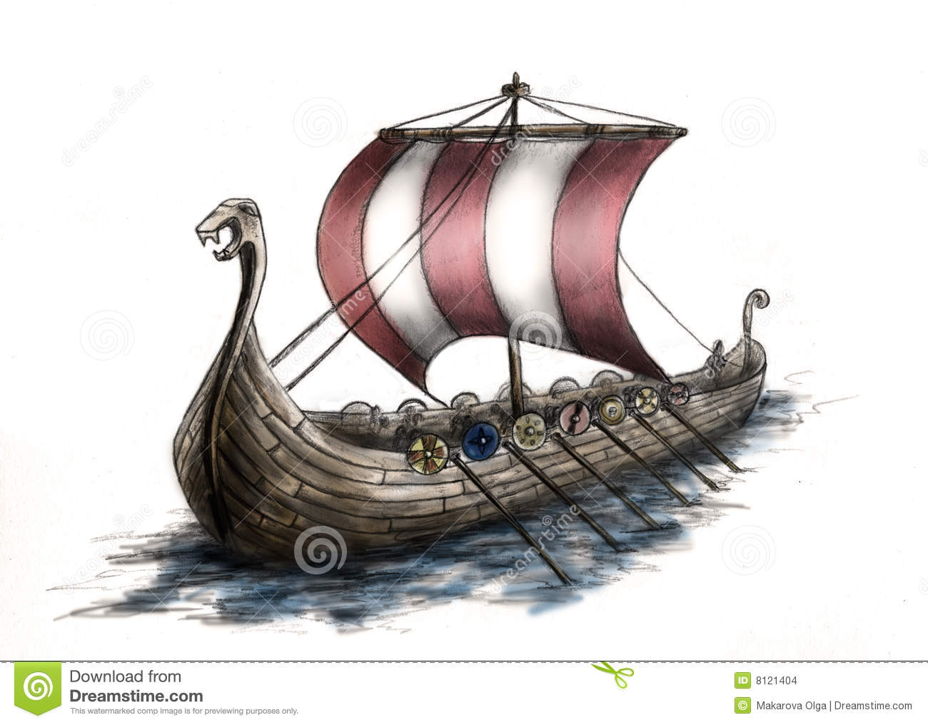 Viking Ship 3 Stock Images - Image: 8121404