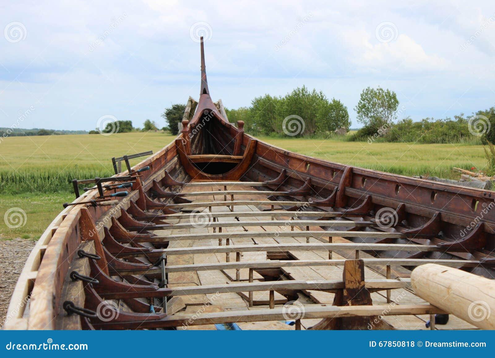 Viking ship stock photo. Image of building, knarr, replica - 67850818
