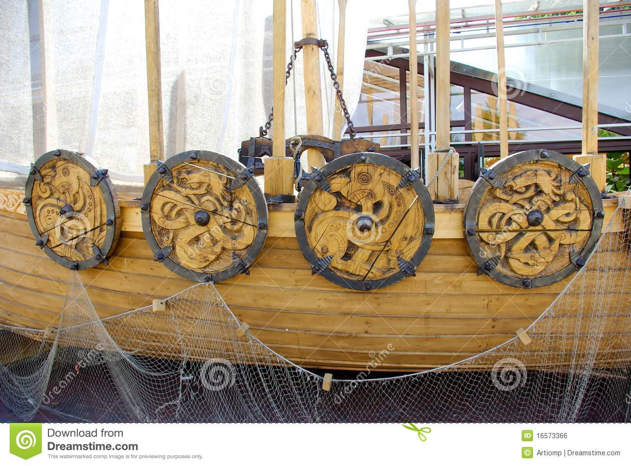 Viking ship details stock photo. Image of armoured, armed ...