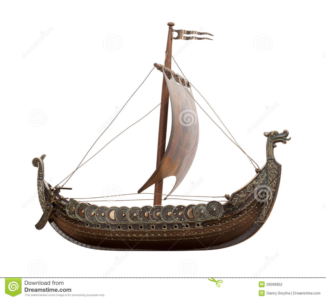 Viking Ship Isolated Stock Photography - Image: 29096852