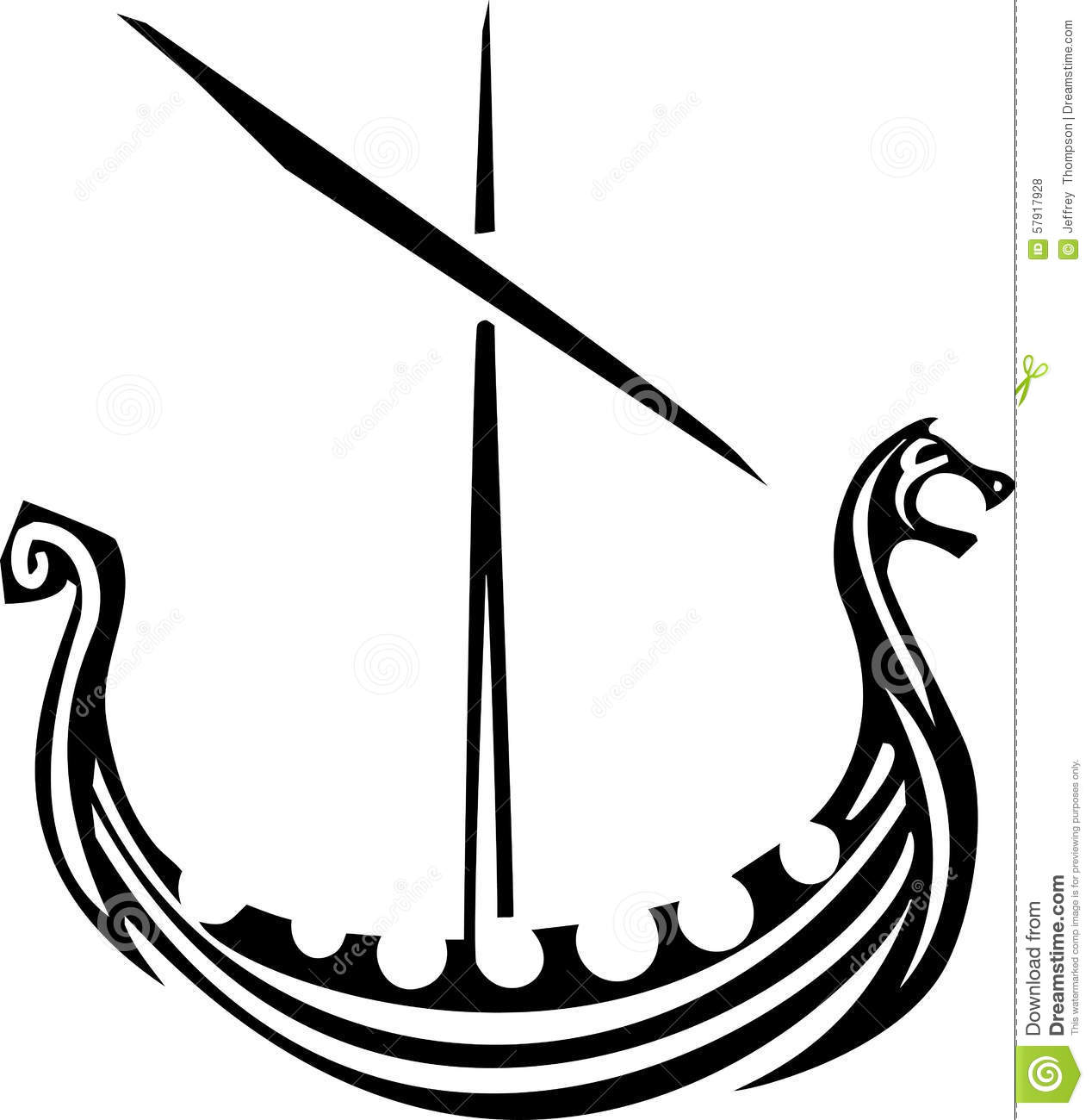 Viking Ship Stock Vector - Image: 57917928