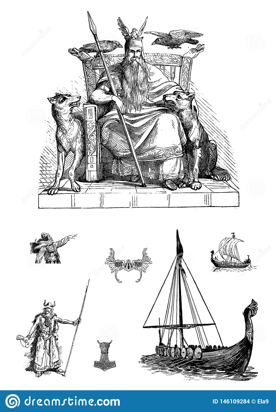 Vikings set of clip art