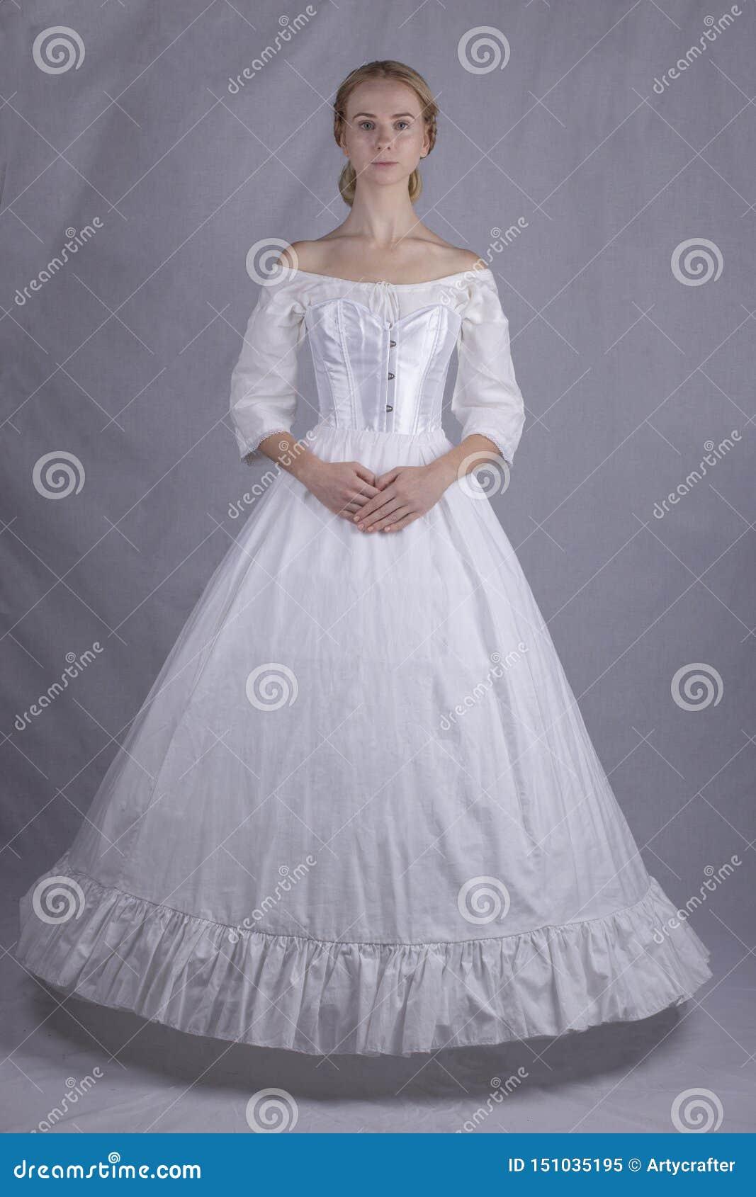 Viktorianische Frau in der Unterwäsche