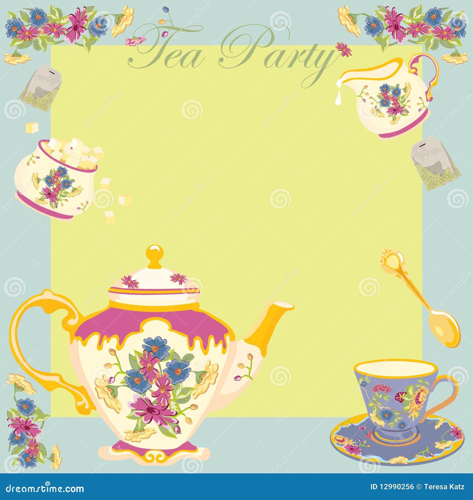 Gemütlich Teeparty Einladungen Vorlage Zeitgenössisch ...