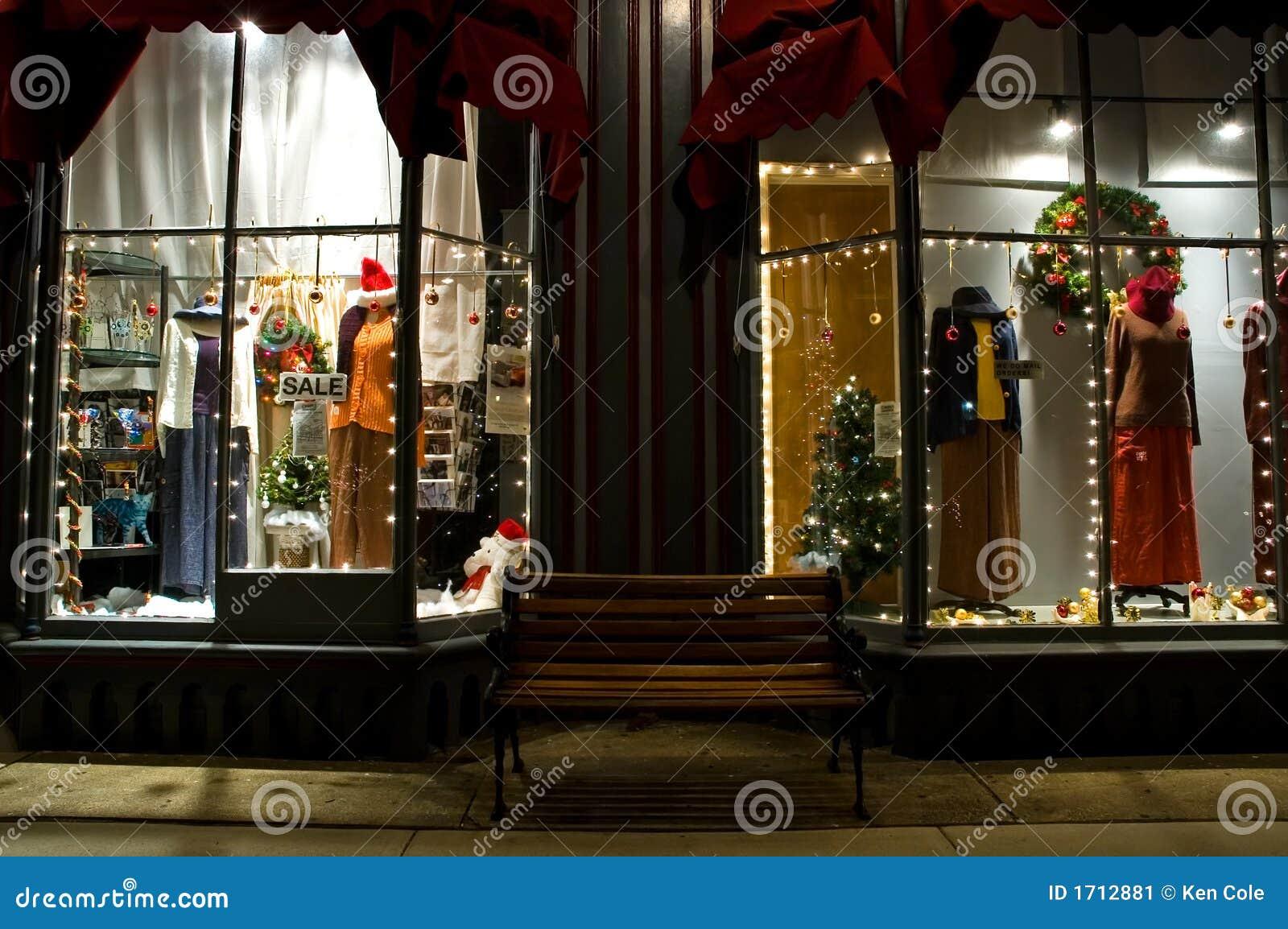 Viktorianisches Schaufenster An Weihnachten 2 Stockbild Bild 1712881