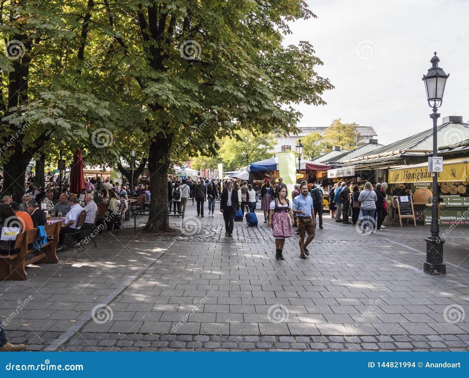 Viktualienmarkt Munich, Alemania