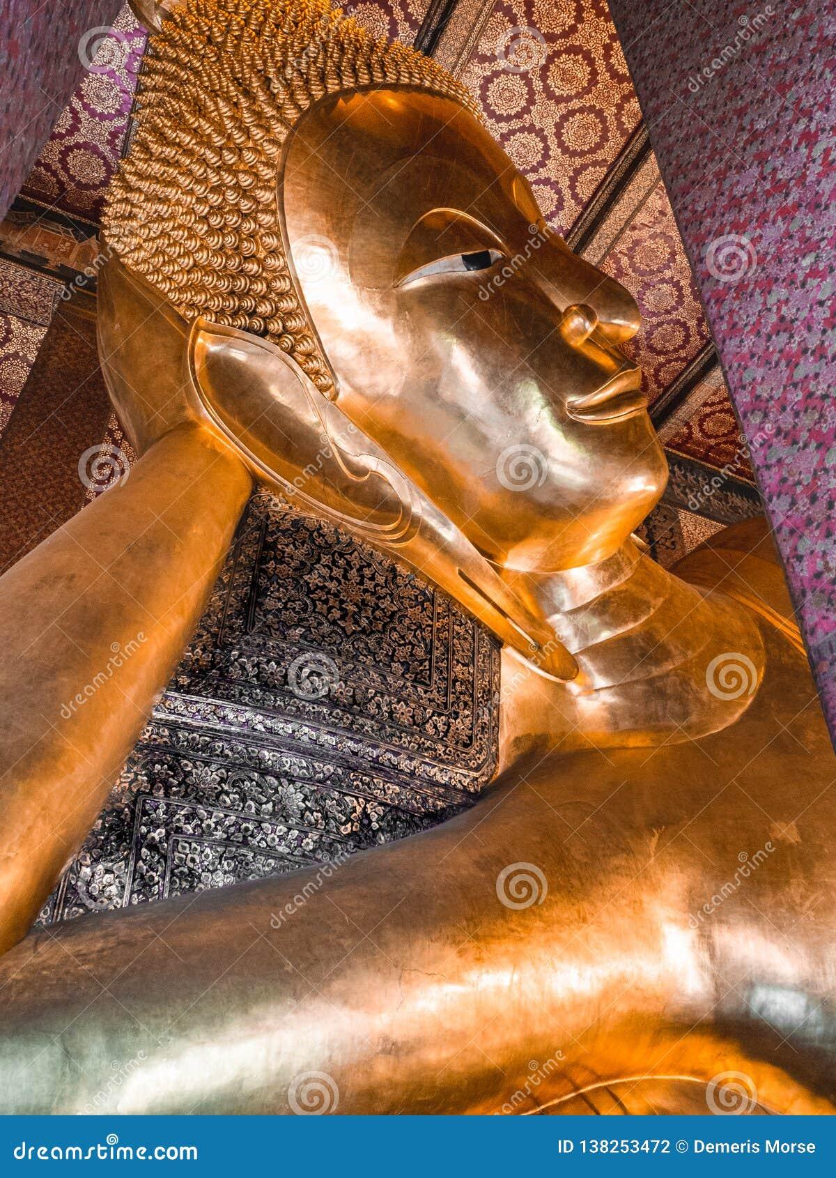 Vila Buddhahuvudet på Wat Pho, Bangkok Thailand