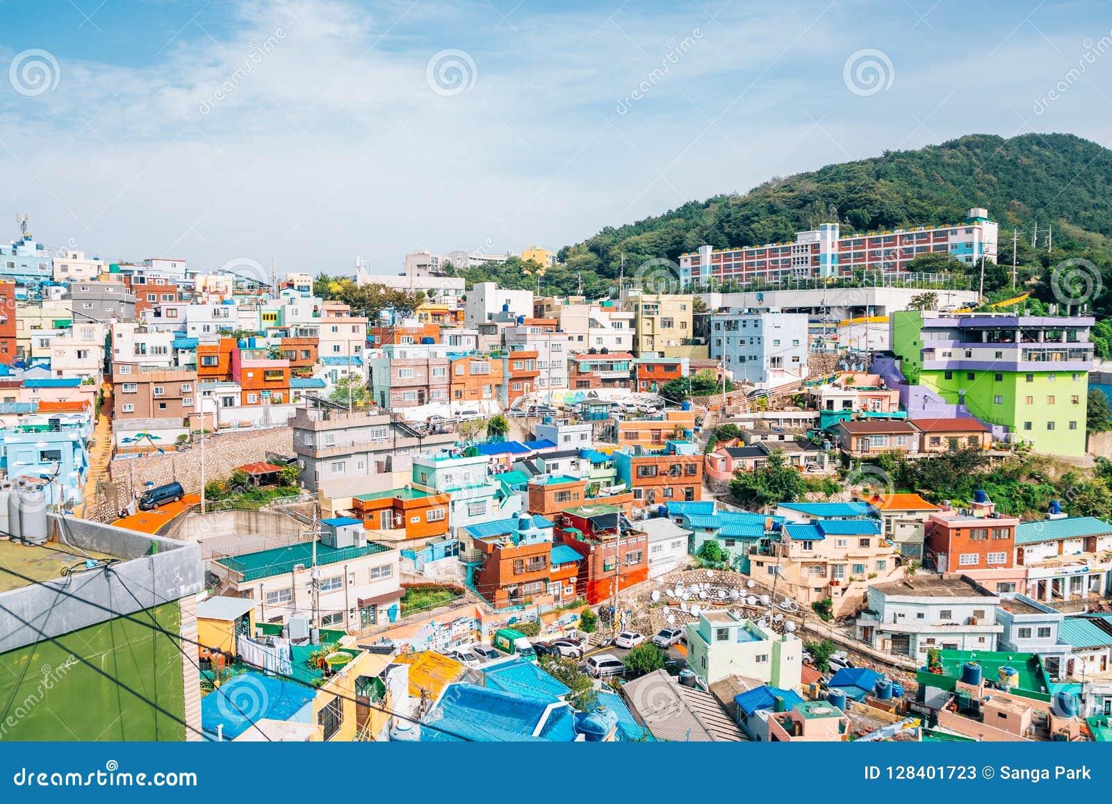 Vila da cultura de Gamcheon em Busan, Coreia