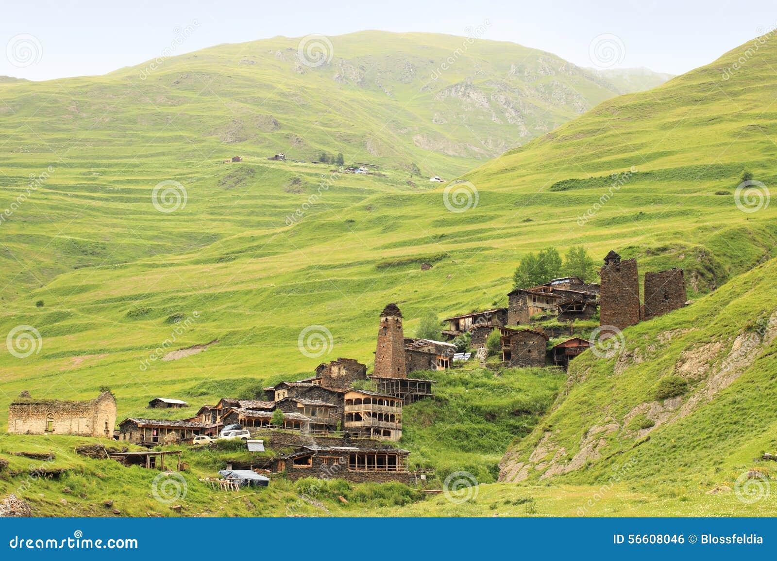 Vila de Dartlo Região de Tusheti (Geórgia)