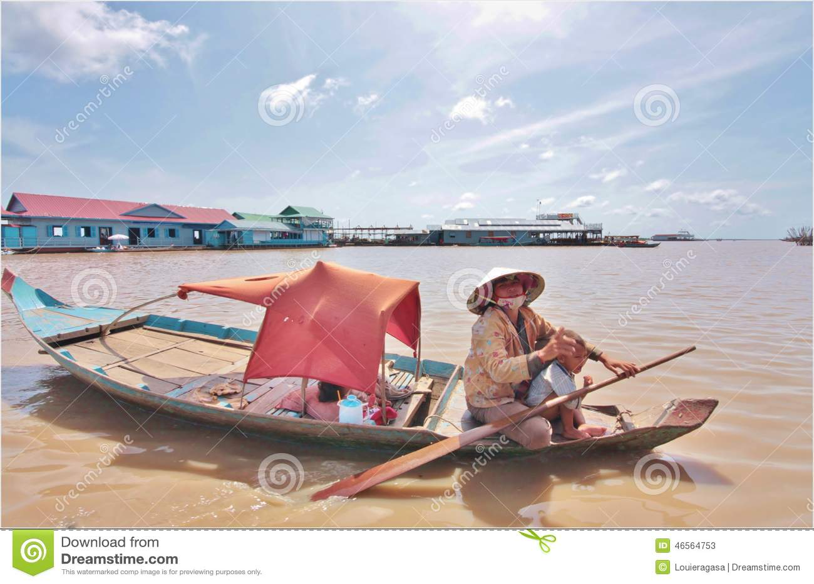 Vila de flutuação, Cambodia