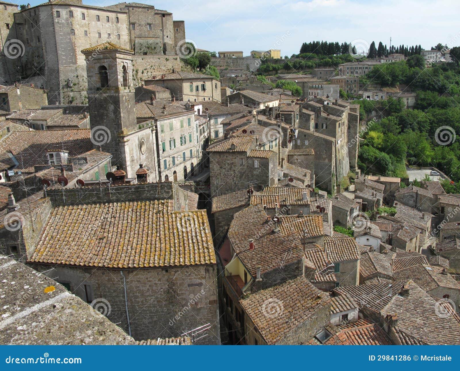 Vila de Sorano em Toscânia, Italia