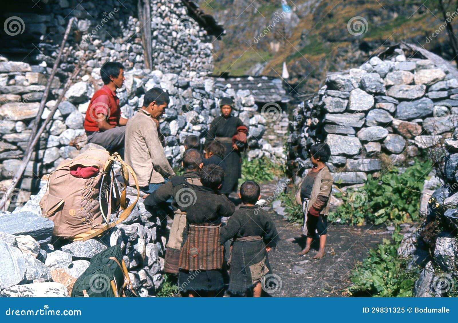 1975. Vila de Langtang. Nepal.