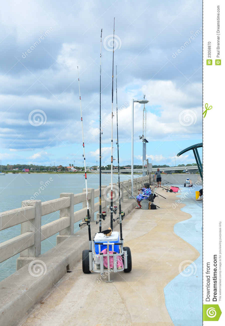 Vilano beach fishing pier editorial image image of tackle for St augustine fishing pier