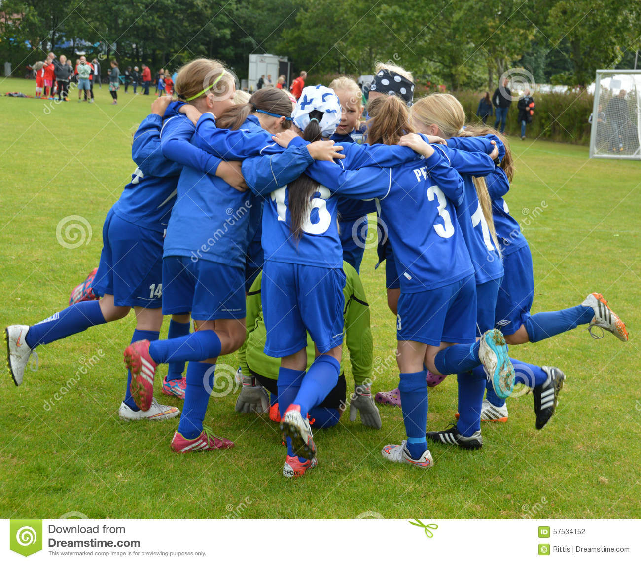 Vildbjerg, Denmark - August 2, 2015 - Junior Female Soccer Player ...