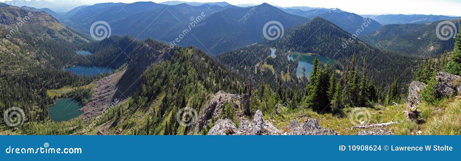 Vildmark för fyra lakes