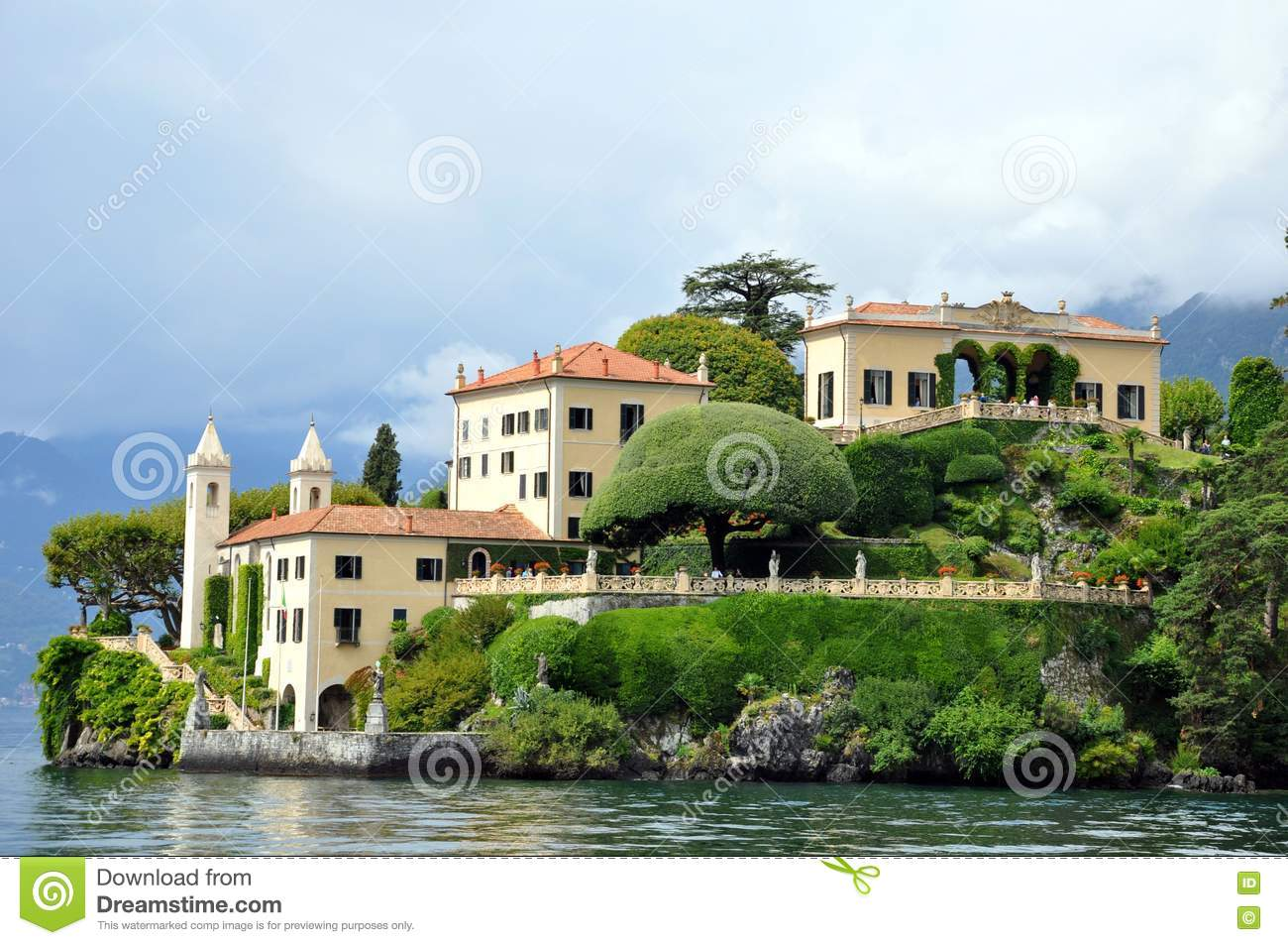 Villa balbianello at Lenno lake como