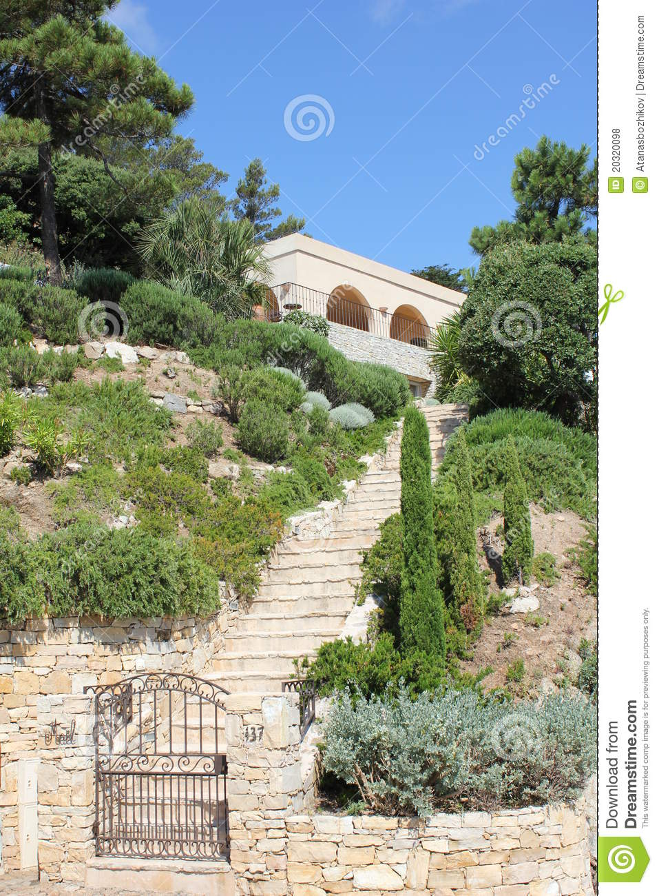 Download Villa In Bonne Terrase On The French Riviera Stock Photo - Image of nature, journey: 20320098