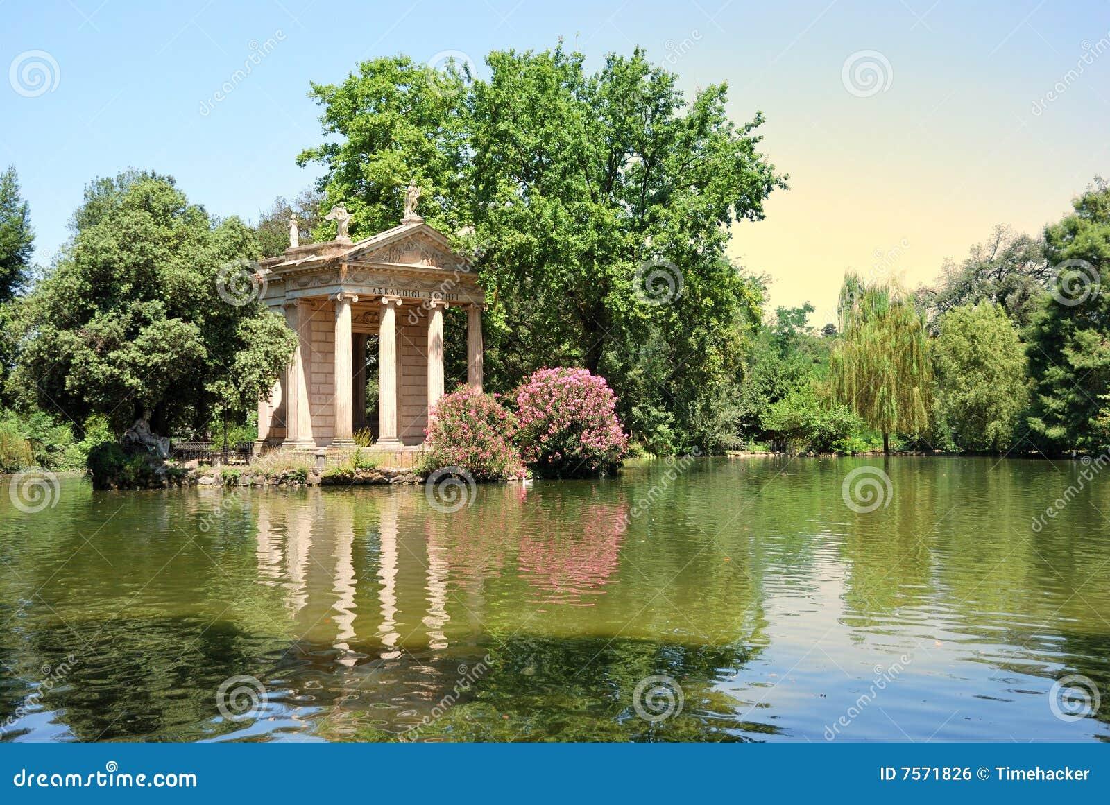 Villa Borghese Gardens Rome Stock Photo Image Of Vila