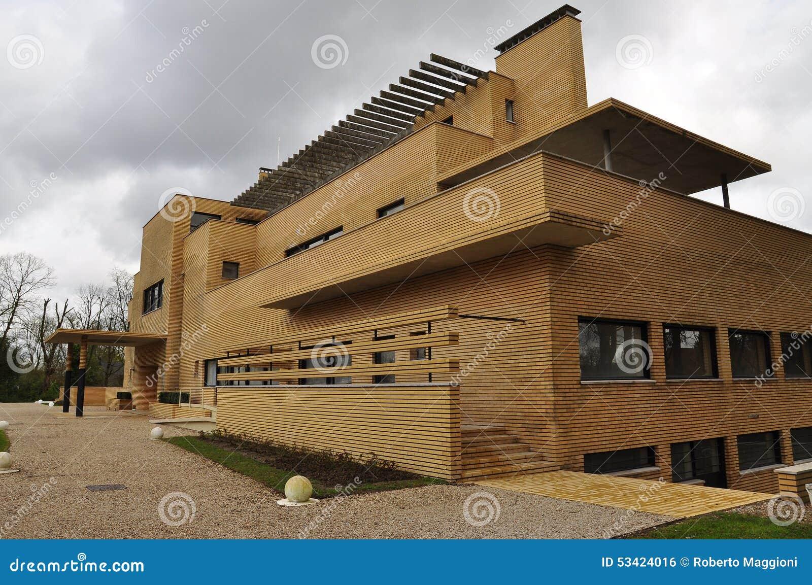 villa cavrois architecture moderniste roubaix france photo stock image 53424016. Black Bedroom Furniture Sets. Home Design Ideas