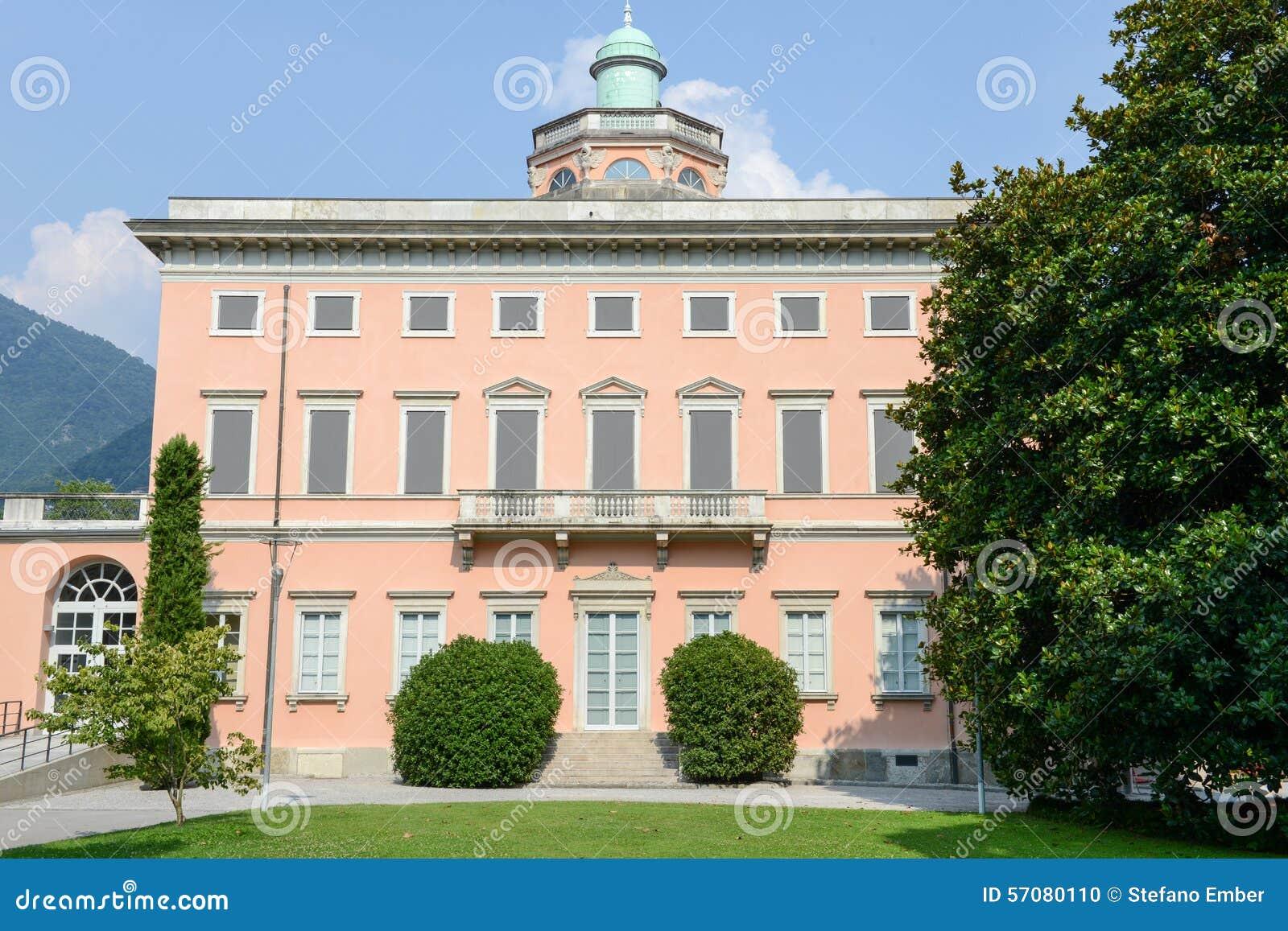 Villa Ciani op botanisch park van Lugano