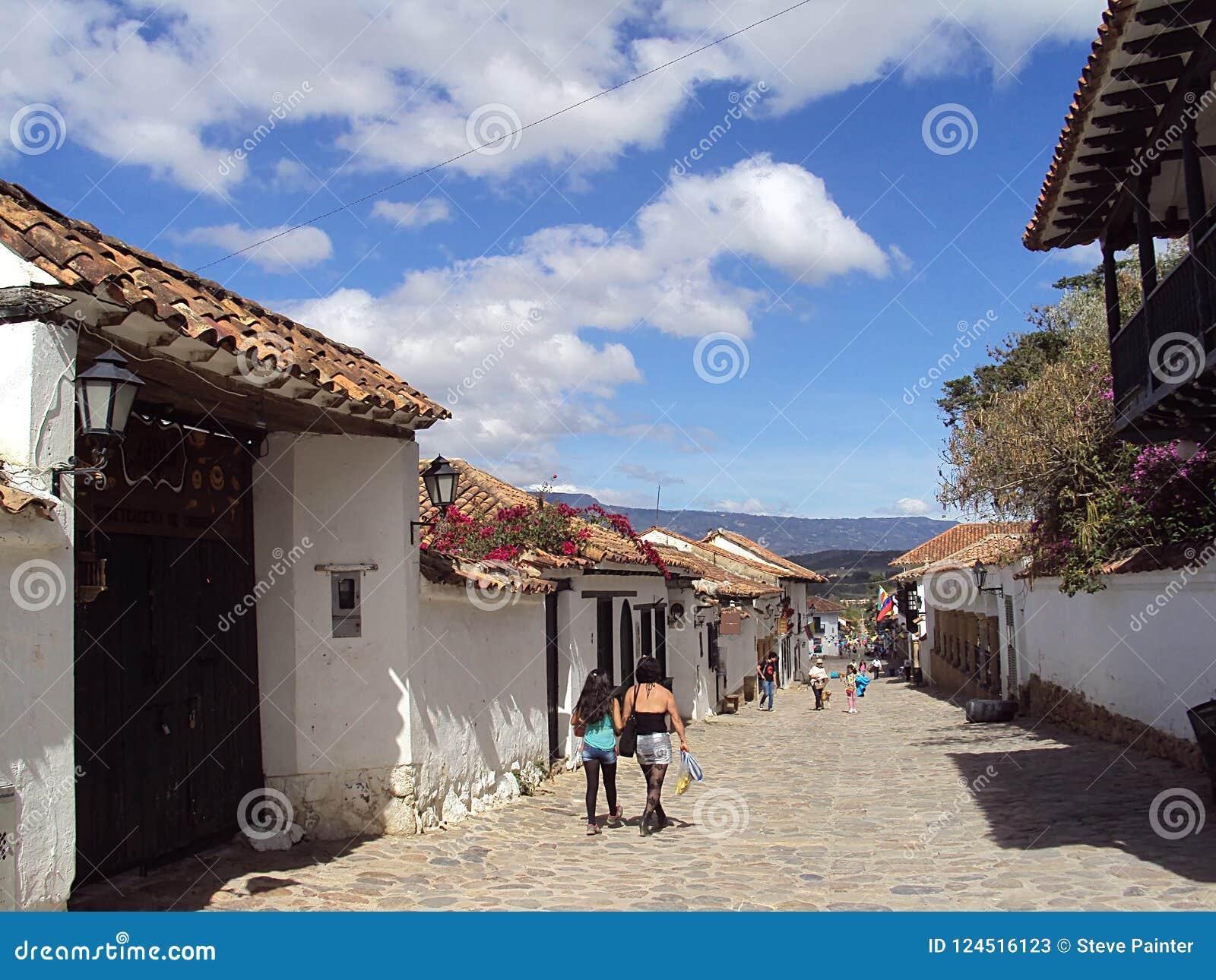 Villa DE Leyva; Colombia/13 de straatscène van Juni 2011/A in ol