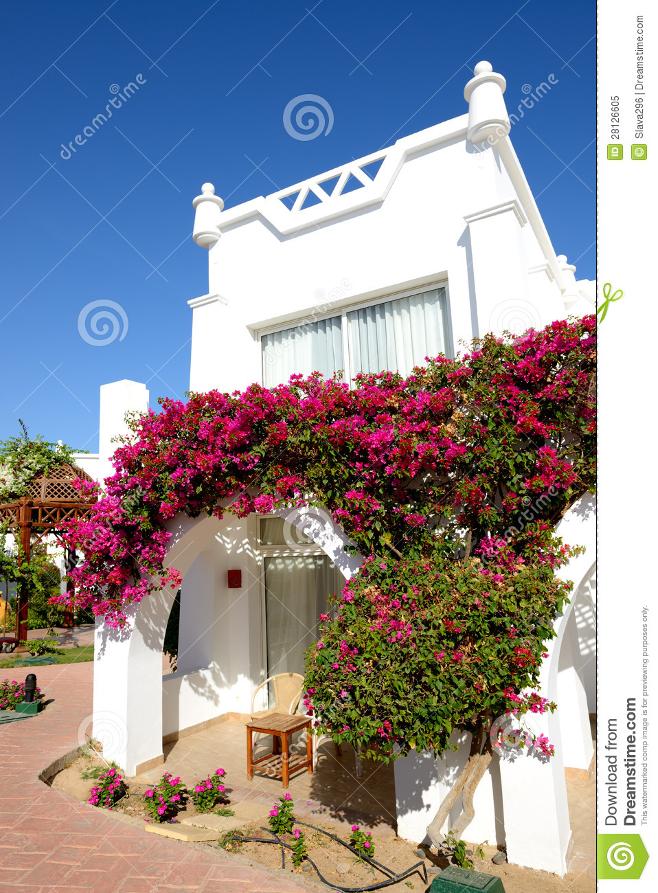 Villa decoration at the luxury hotel royalty free stock for Decoration villa