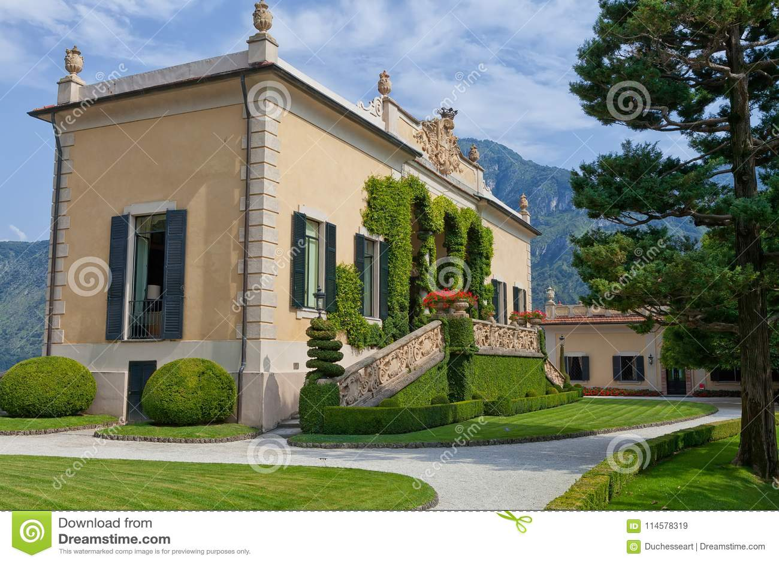 Villa Del Balbianello auf See Como, Lenno, Lombardia, Italien