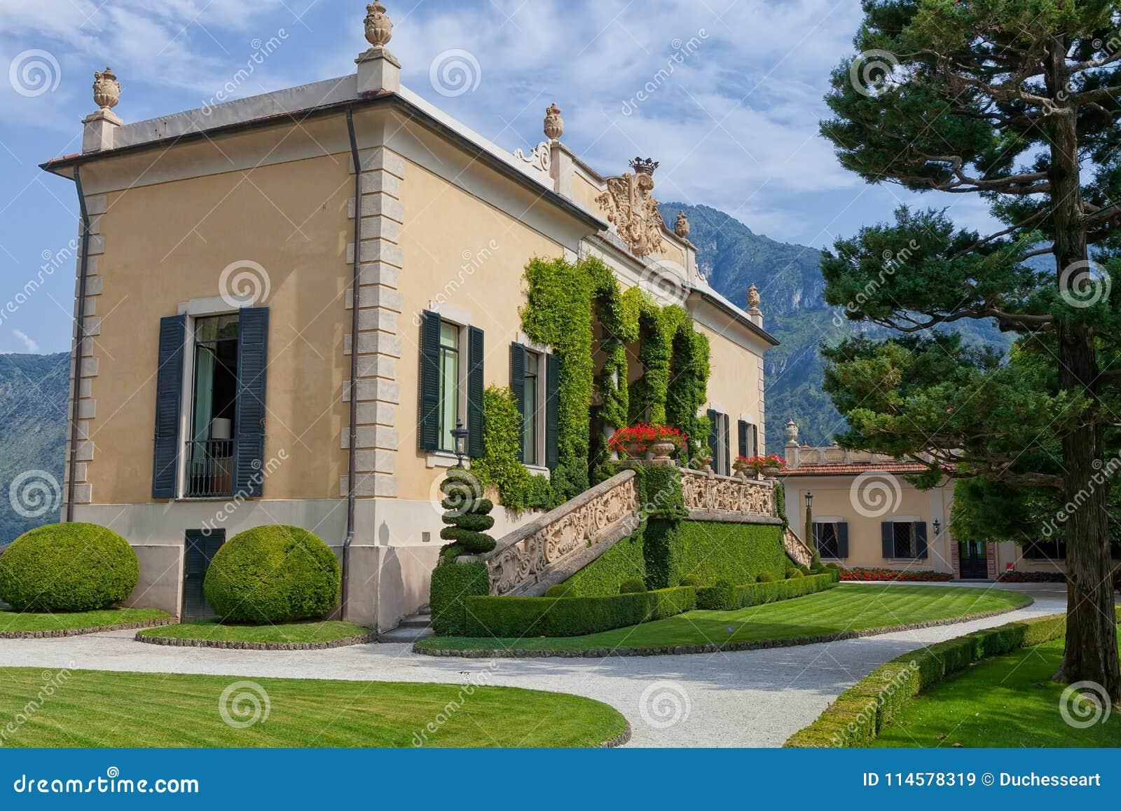 Villa del Balbianello på sjön Como, Lenno, Lombardia, Italien