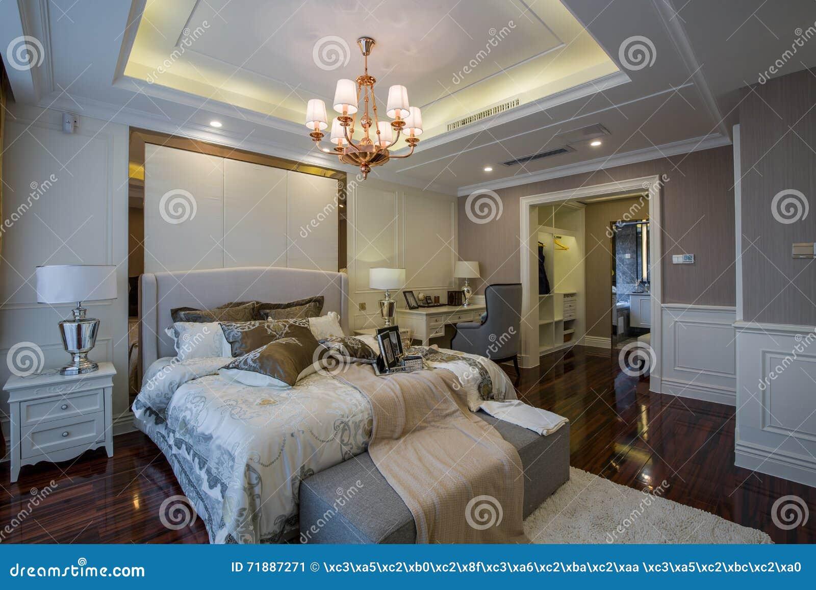 Villa domestica interna di lusso moderna della camera da letto di progettazione immagine stock - Stanza da letto moderna prezzi ...