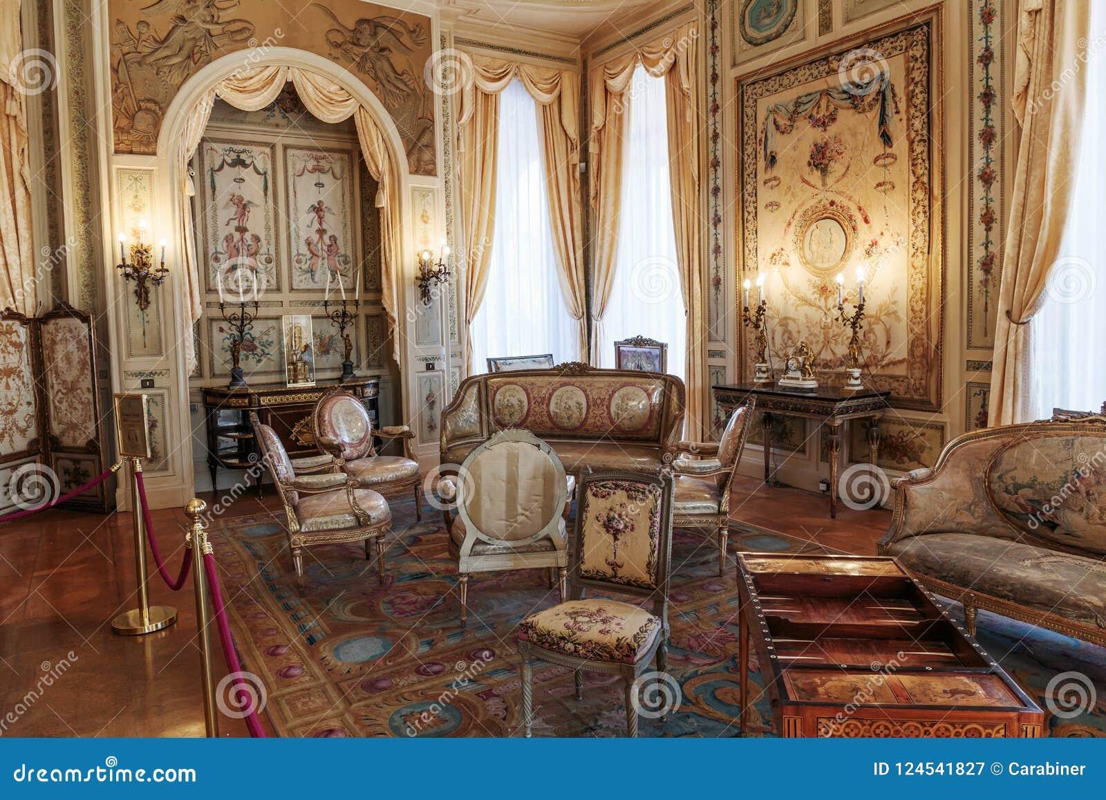 Villa Ephrussi de Rothschild inre