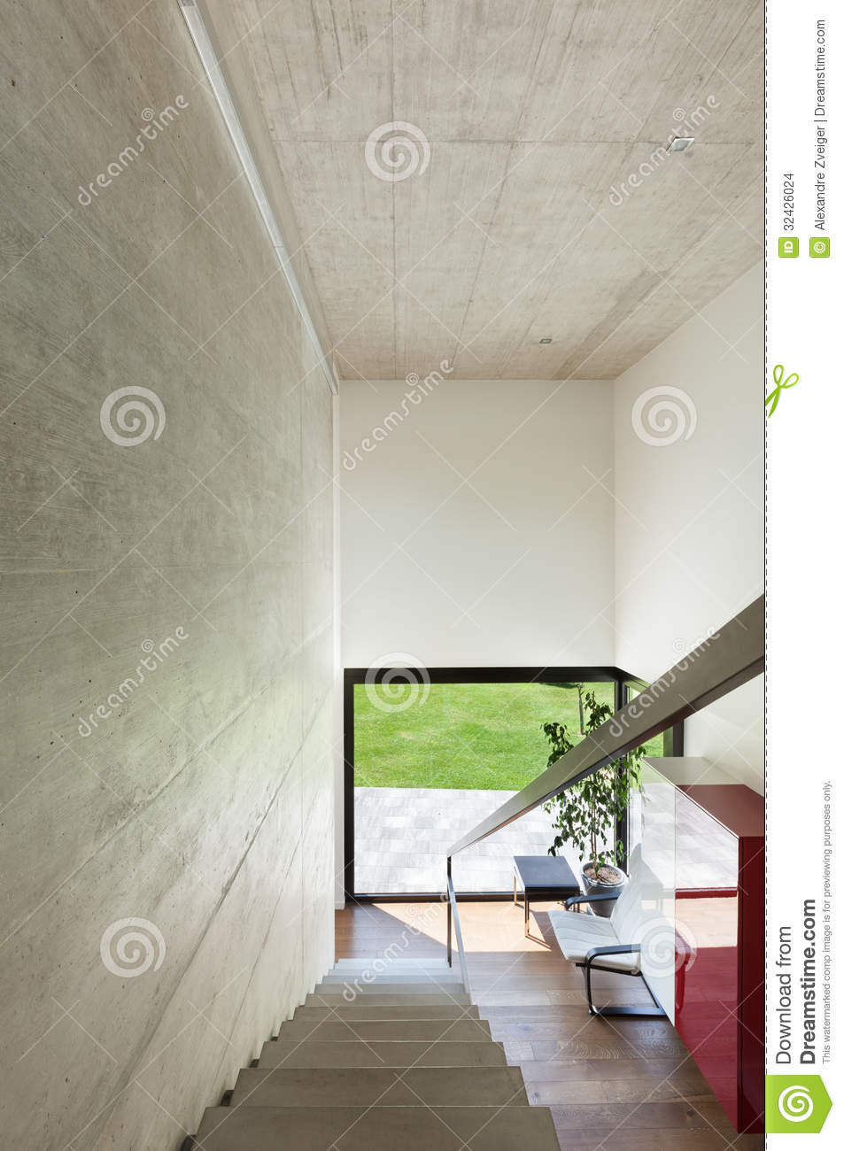 Villa moderne int rieur escaliers images stock image for Escalier moderne interieur