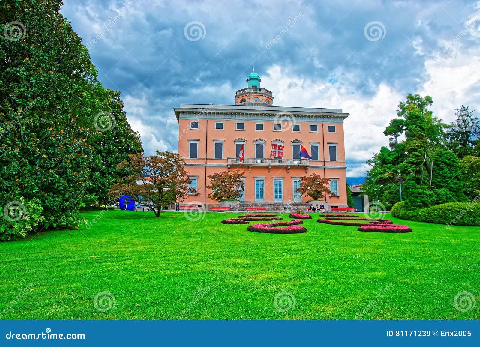 Villa op de botanische tuin van Ciani in Lugano Ticino Zwitserland