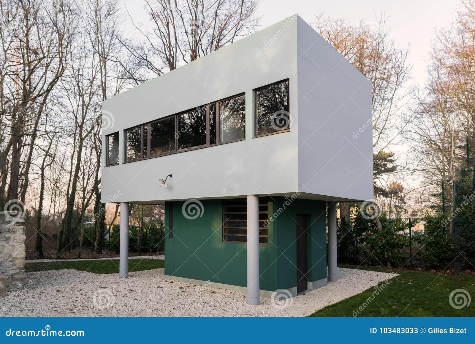 Villa Savoye At Poissy Near Paris Editorial Stock Photo - Image of ...