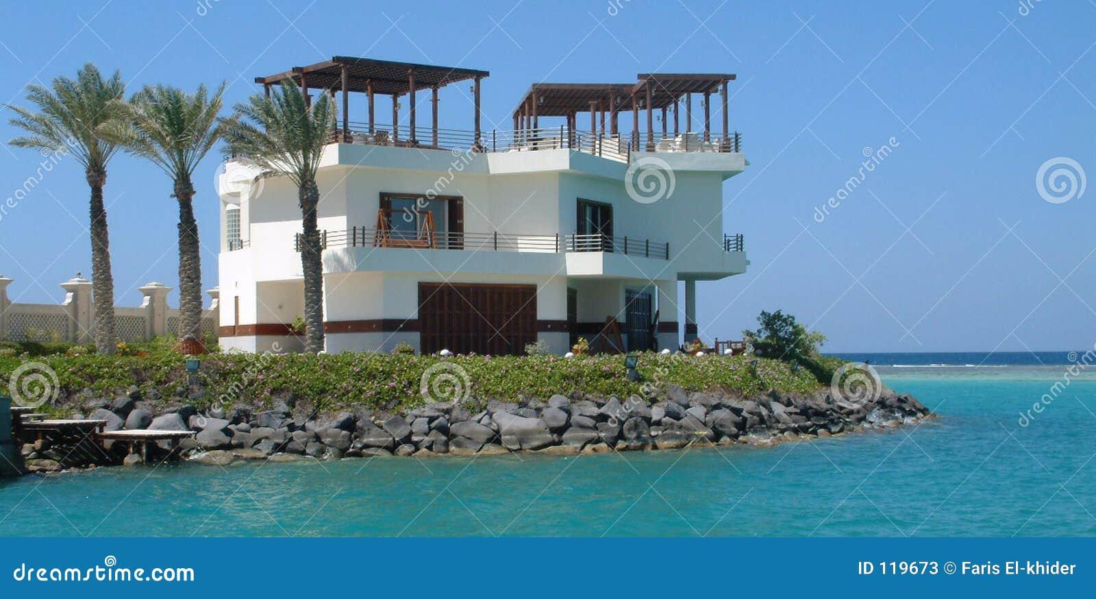 Villa on sea