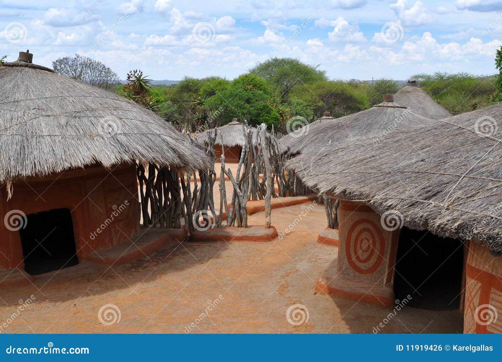 Village africain traditionnel afrique du sud