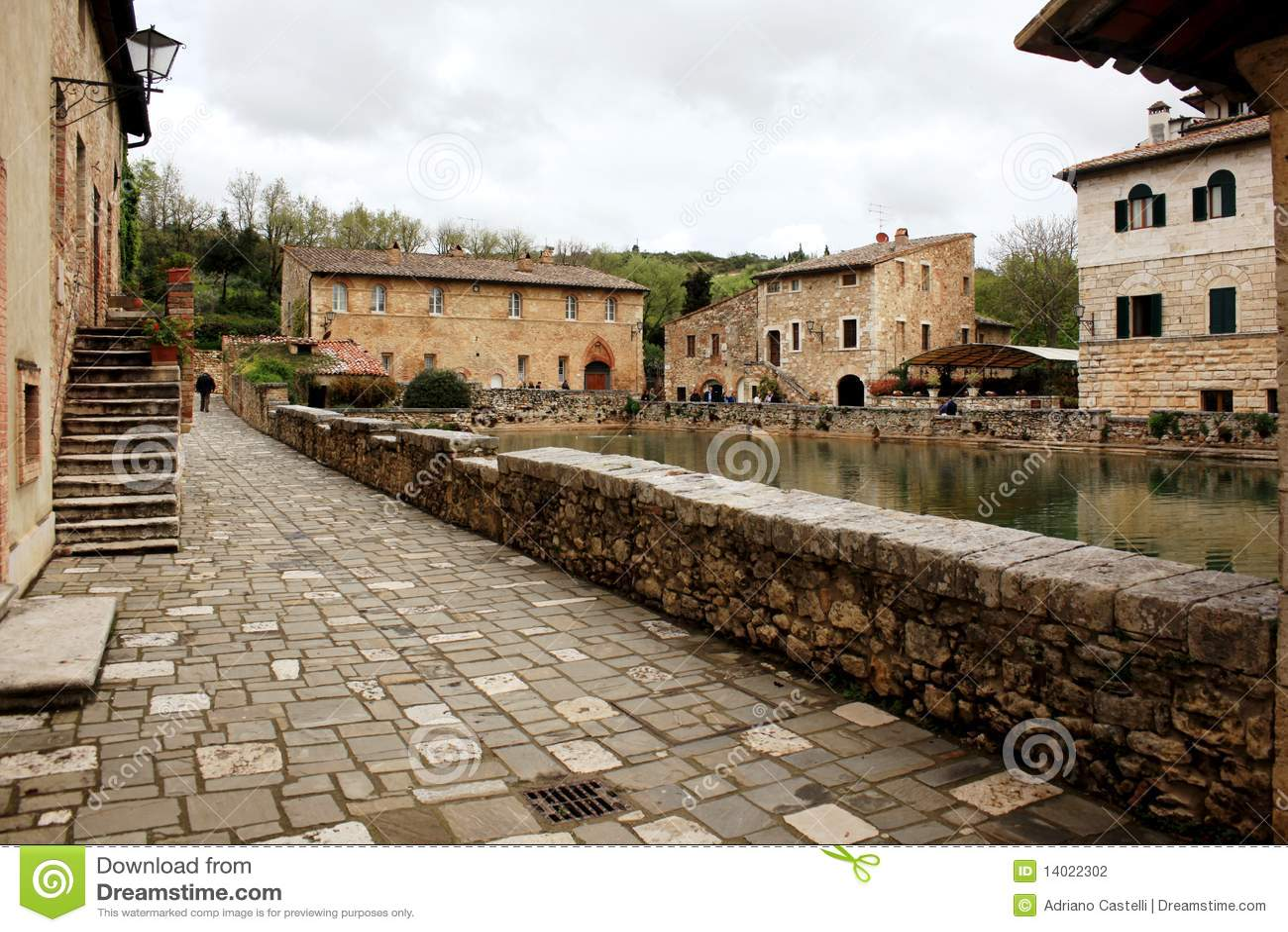 Village Of Bagno Vignoni, Tuscany Stock Photography - Image: 14022302