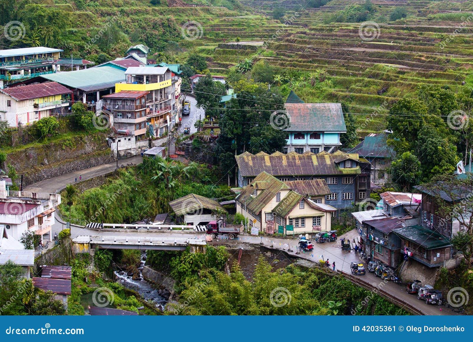 Village Banaue, Luçon du nord, province Philippines d Ifugao