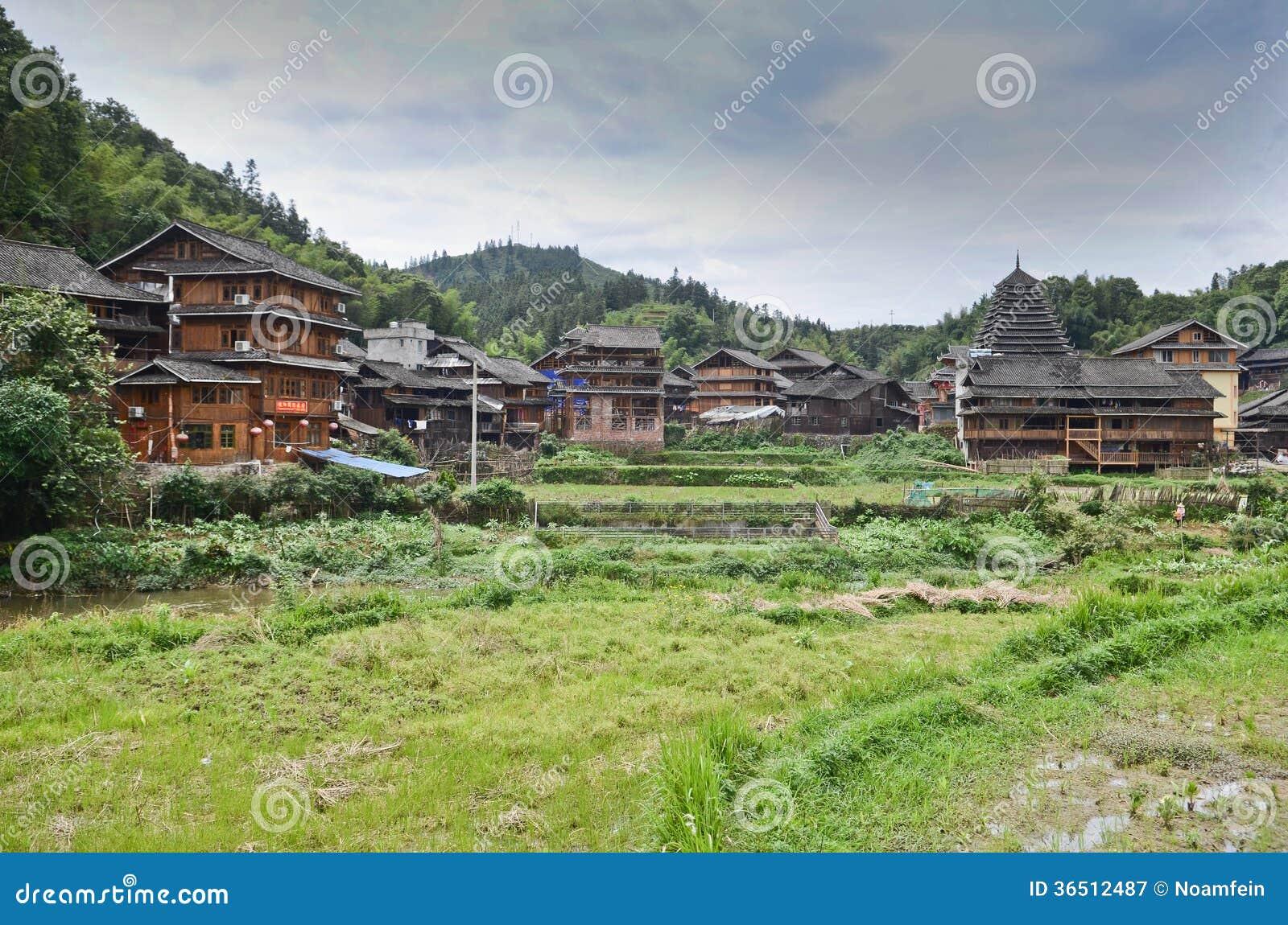 Village de Dong Minority en Chine