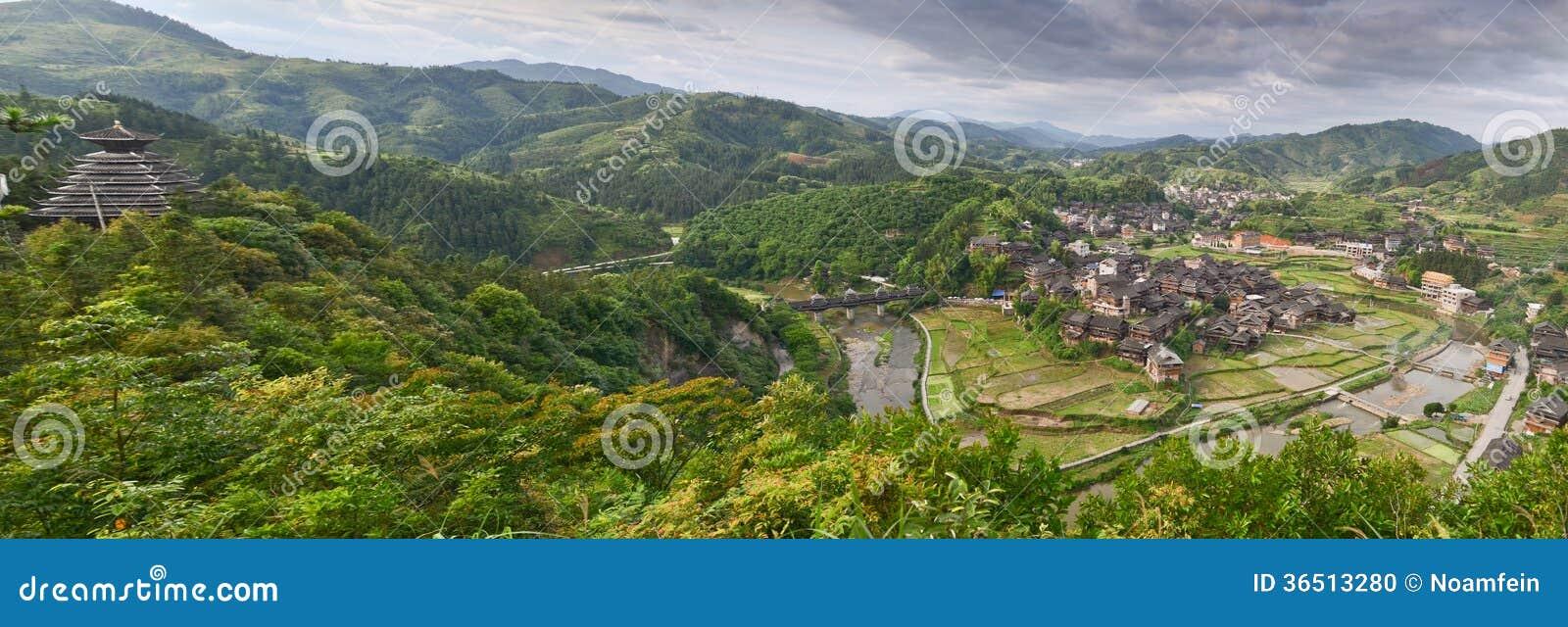 Village de minorité en Chine