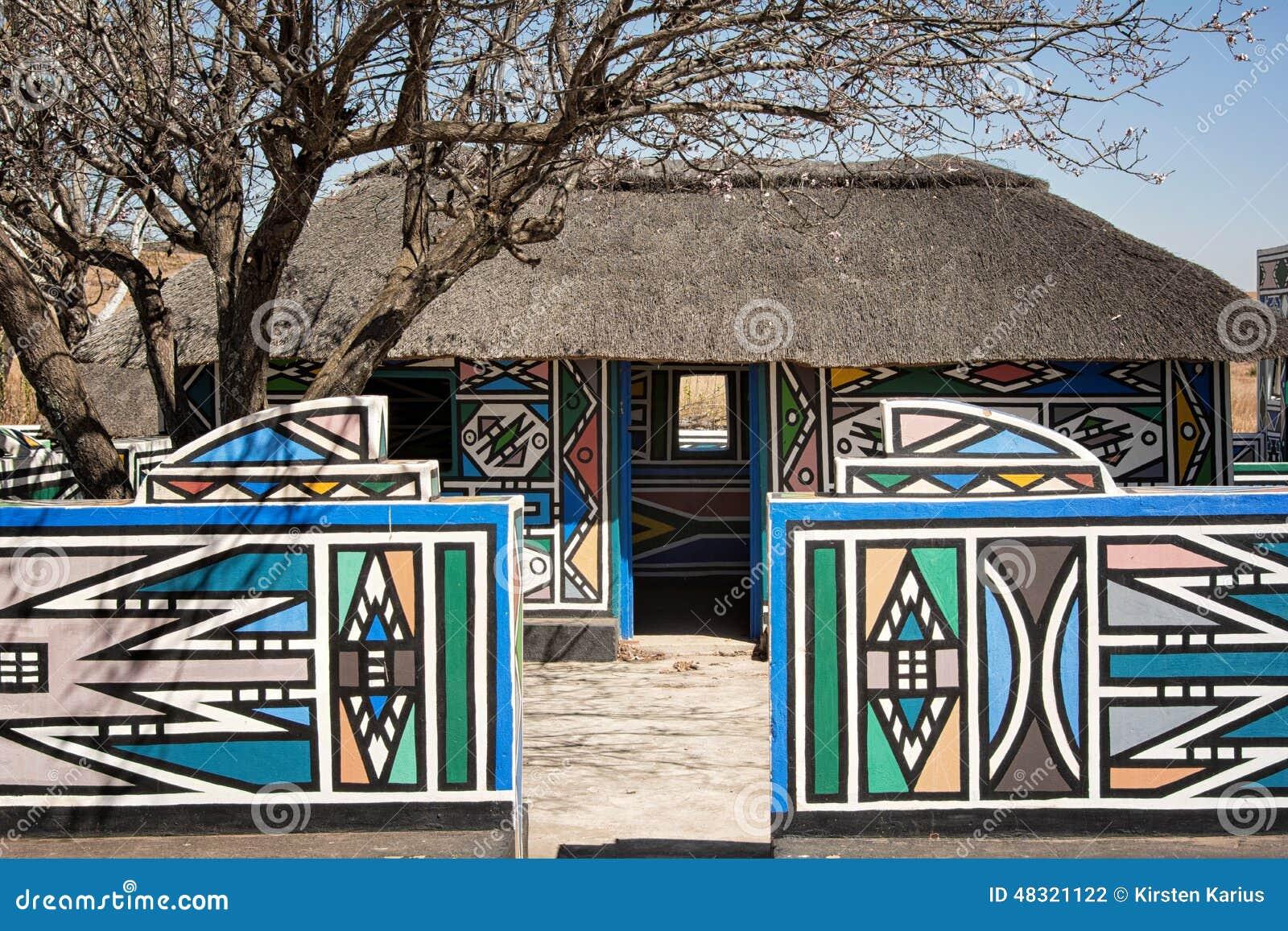 Village De Ndebele Afrique Du Sud Photo Stock Image Du