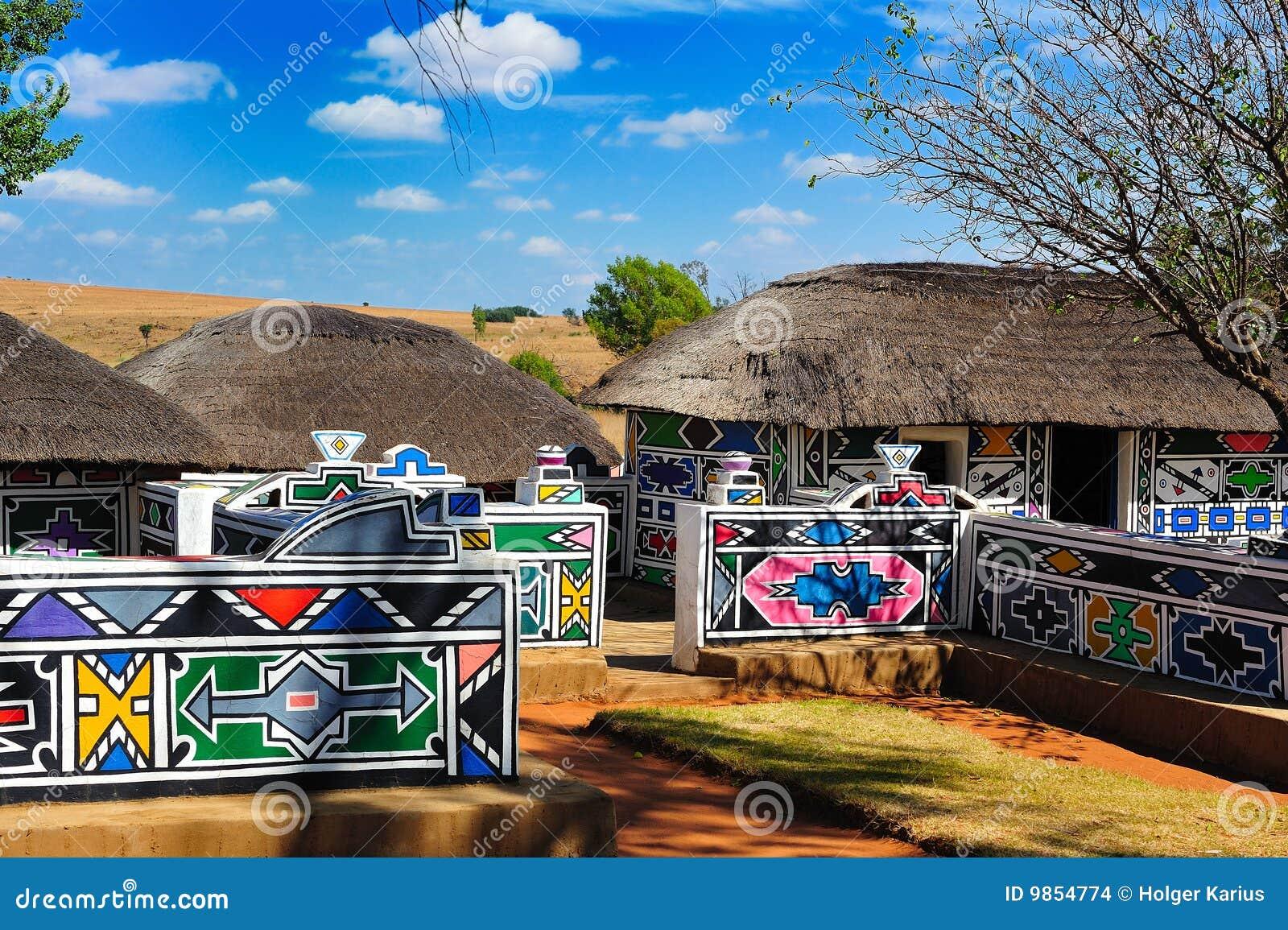 Village de Ndebele (Afrique du Sud)