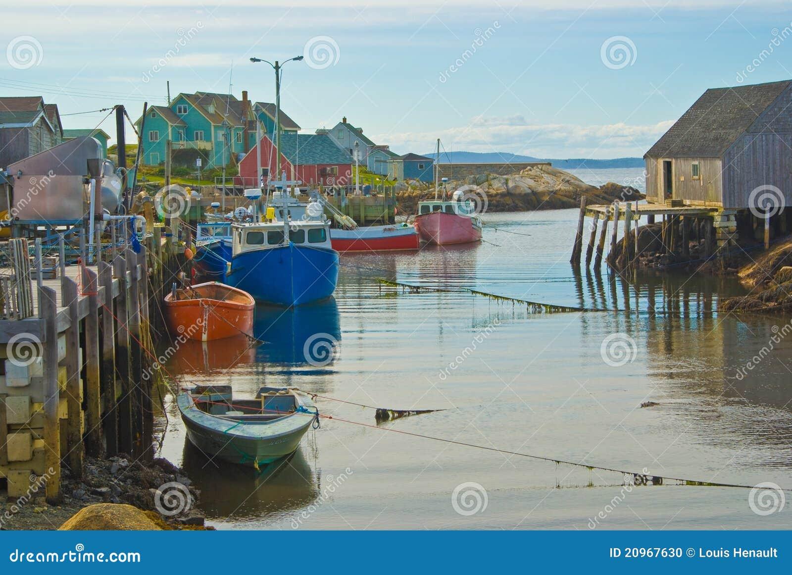 Village de pêche de la crique de Peggy