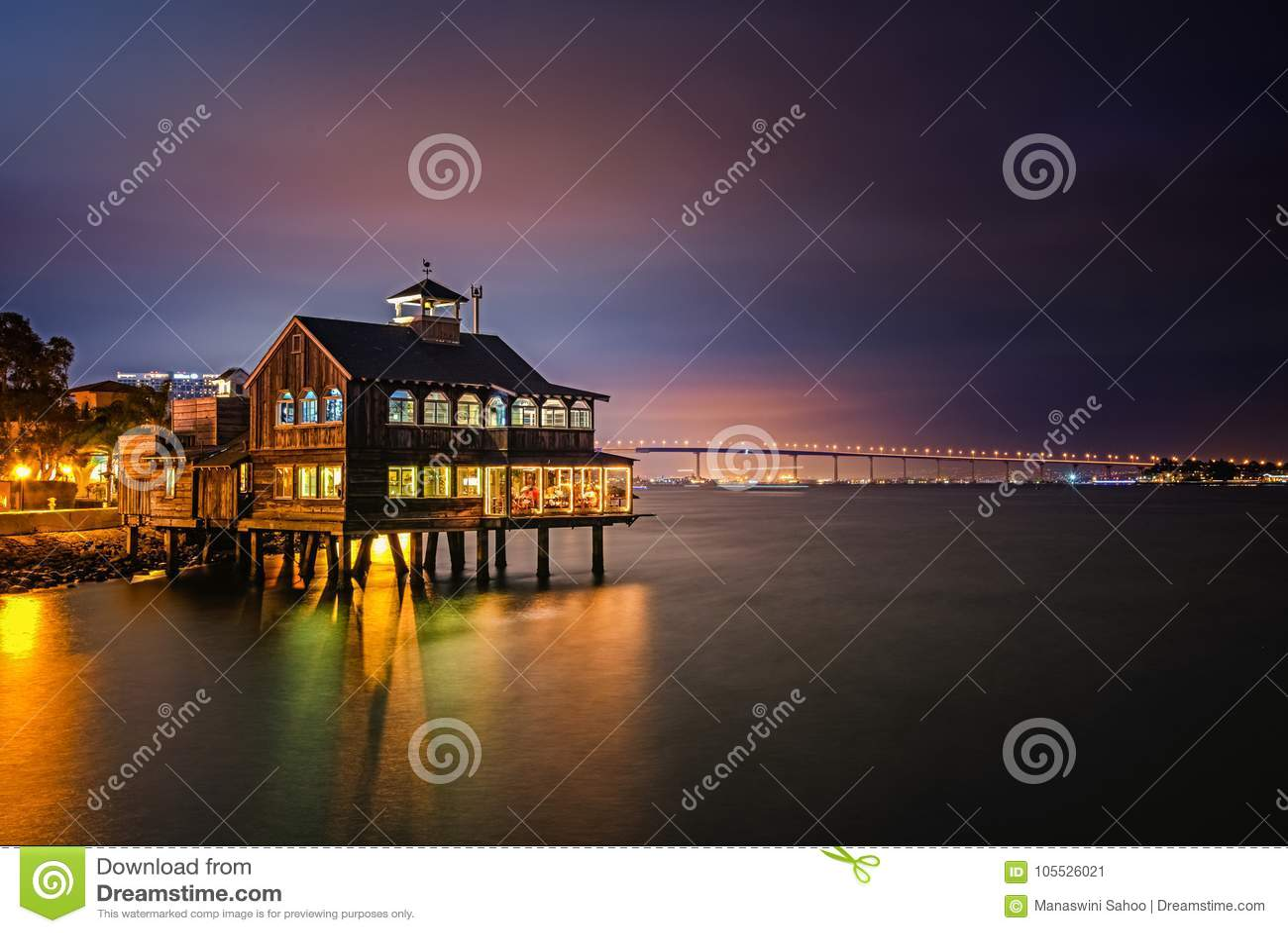 Village de port maritime à San Diego du centre