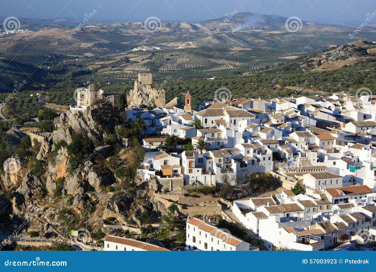 Carte Zuheros Espagne.Village De Zuheros Image Stock Image Du Olive Forteresse