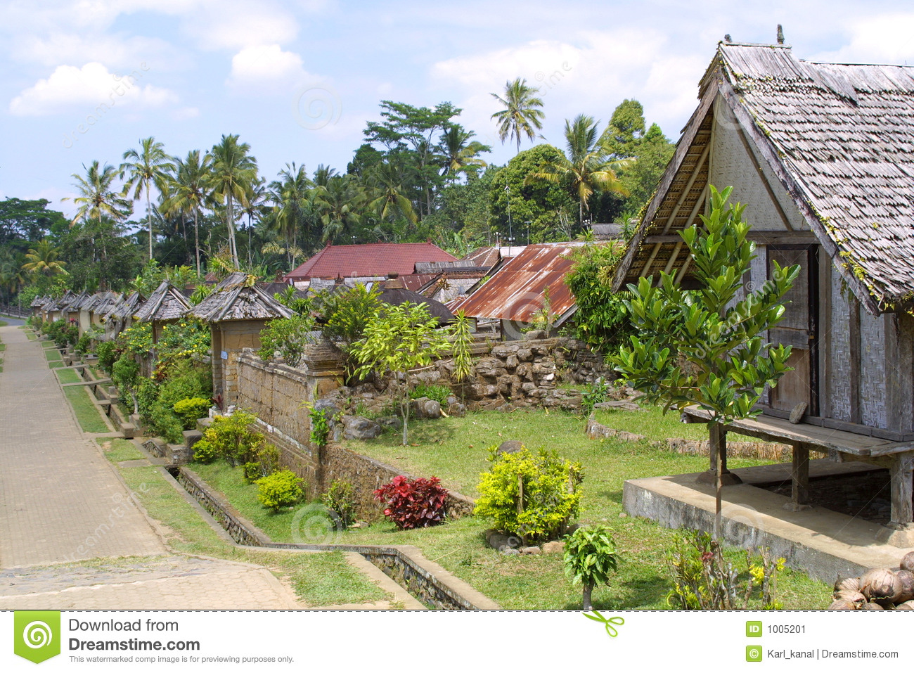 the village at garden stock image image 1005201