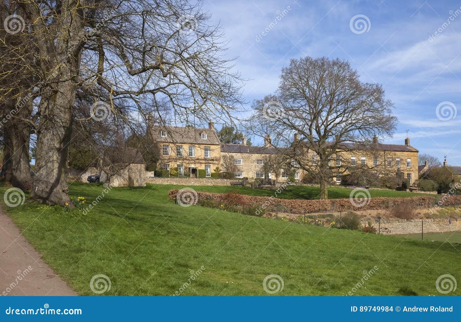 Village Green på Blockley, Gloucestershire