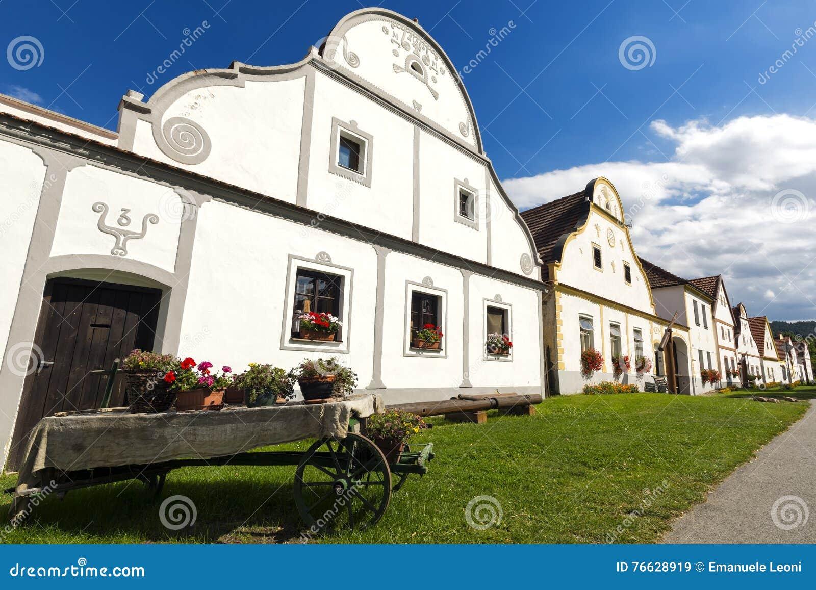 Village Holasovice, UNESCO world heritage, Czech republic, Europe.