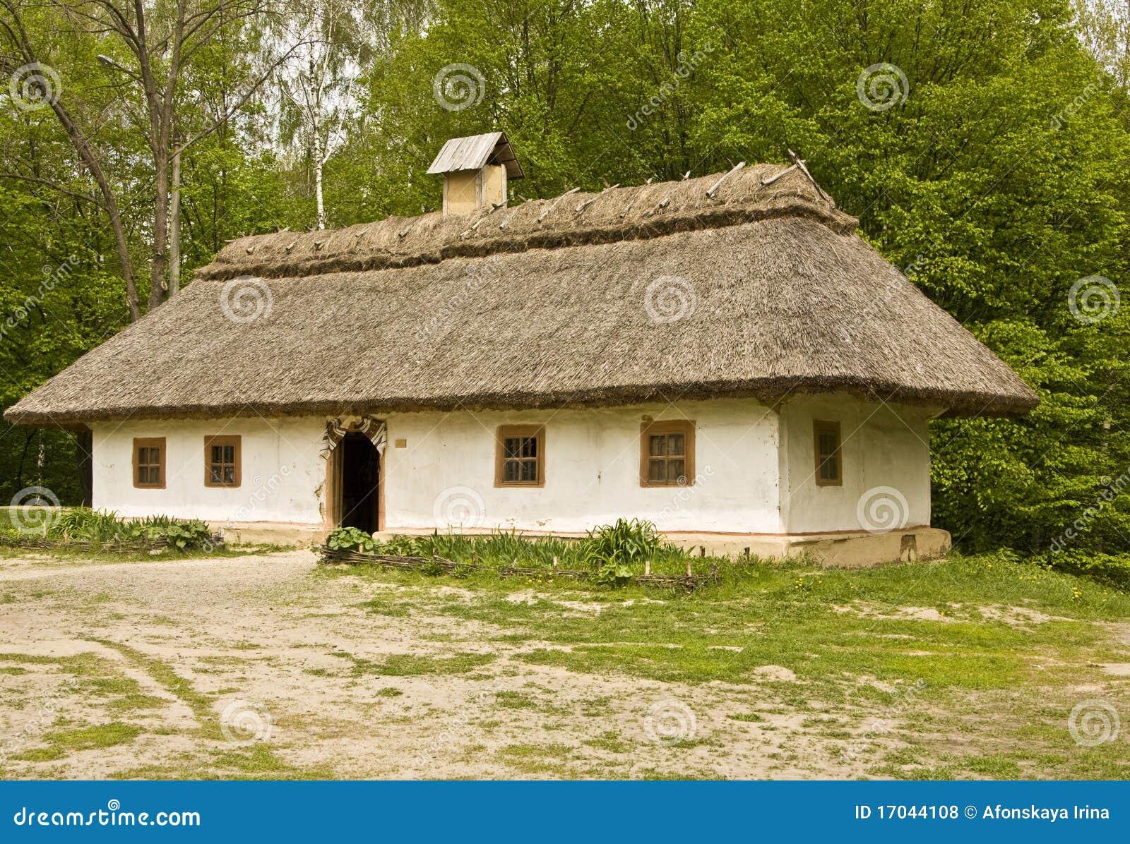 Village house stock photo image of ukrainian building for Free house photos