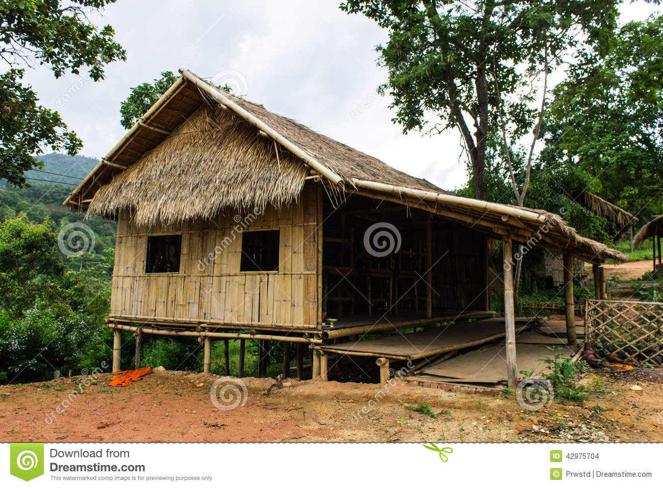 Village house in countryside thailand stock photo image for Thailand houses pictures